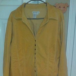 Vintage yellow gold corduroy jacket
